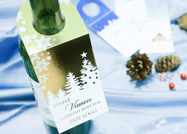 Vianočné visačky na fľaše